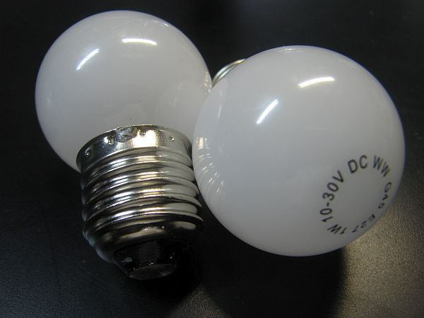 LED G45 BULB * PRI-G45-1W *10-30VDC